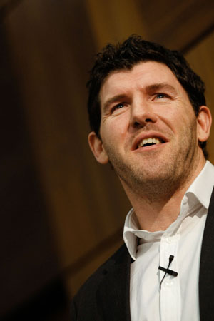 Shane Horgan, former Rugby player for Leinster and Ireland was the guset speaker at the Chartered Accountants Ireland Annual Conference held in Chartered Accountants House, Dublin. Chartered Accountants Ireland is Ireland's largest and longest established professional body of accountants. Pic: Iain White Photography. - Press_and_pr Photography by Iain White, Photographer, Dublin 16