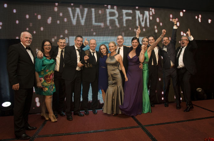 NO REPRO FEE. 13th October 2012. WLTFM has been awarded the PPI Radio Awards 2012 Local Station of the Year 2012. Members of the Station are pictured celebrating on stage after receiving the trophy from Dennis Woods the Chairperson of PPI (left) at a ceremony held in Kilkenny last night. Pic Iain White - News - Ppi Local Station Of The Year 4153 Photography by Iain White, Photographer, Dublin 16